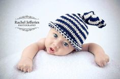 Premature Preemie baby boy knot hat  navy and by TheYarnOwlsNest, £12.00