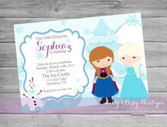Snow Princess Birthday Invitation by LillysPartyBoutique on Etsy, $15.00