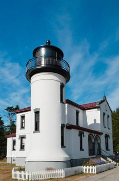 Admiralty Head Lighthouse at Fort Casey State Park, Whidbey Island, Washington
