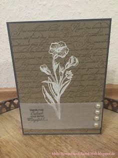 Stampin Up, Trauerkarte, En France, Schmetterlingsgruß,