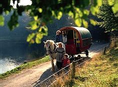 Gypsy wagons in Ireland Life is also slow and relaxed when you venture off to Ireland for a holiday in a horse-drawn gypsy caravan. The kid...