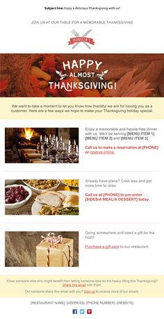 Here are 11 templates you can use right now to start putting your holiday emails and newsletters together.