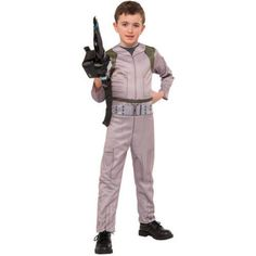 Ghostbuster Jumpsuit with Proton Wand Boy Jumpsuit Halloween Costume…