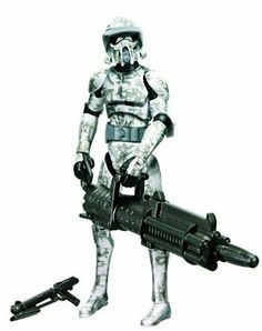 """Star Wars 2010 Clone Wars Animated Action Figure CW No. 24 Jungle Camo ARF Trooper by Hasbro. $11.00. ARF Trooper (Jungle Camo) is figure # CW24 in the 2010 Clone Wars action figure line. For Ages 4 & Up. Figure comes with a missile-firing cannon, Galactic Battle Game card, die and base. Star Wars: The Clone Wars 3 3/4"""" animated action figure from Hasbro. ARF Camo Troopers were clone troopers fighting for the Galactic Republic. They were often deployed into situa..."""