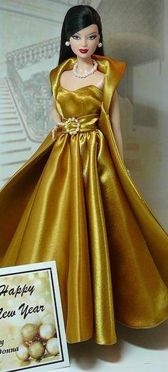 Happy New Year  This elegant Holiday Ensemble is designed to fit Barbie Basics Fashion Dolls