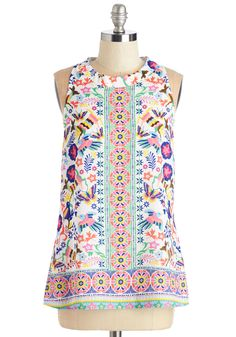 Festive the Best Top. Show off your your famously cheerful style all over town in this vibrant top. #multi #modcloth