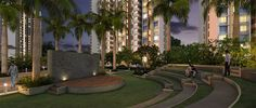 Lush green park for jogging and walking inside night view #MarinaEnclave in #Malad. For details visit: gurukrupagroup.co...