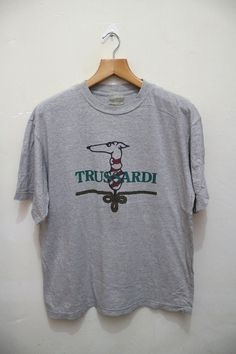 Vintage TRUSSARDI Yacht Sea Outdoor Tee T Shirt by VintageClothingMall on Etsy