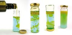 Unser Mini-Material-Mittwoch bringt ein einfaches Experiment: Öl und Wasser mischen - geht das?