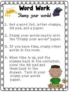 Tori's Teacher Tips: Daily 5- Word Work! {giant freebie!}