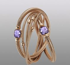 Roberto Coin - Primavera Bracelet in 18kt Rose Gold with Amethyst