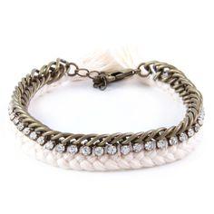 Celebutante Bracelet In Brass and Cream