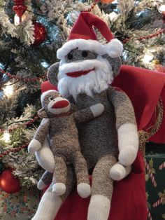 With it being the Sunday before Christmas, the holiday cheer is filling our house. The sock monkeys made banana cookies for Santa Monkey so...