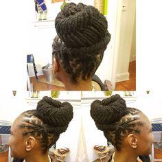 Natural Hair done Right Natural Hair Salons, Natural Hair Styles, Cornrows, Sisterlocks, Dreads Styles, Lock Style, Goddess Locs, Kinky Hair, Faux Locs