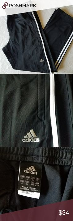 """Adidas Men's Track Pants In great condition  Would recommend for anyone who is between 5'10""""(to hem)-6ft   Feel free to ask any questions 😊 adidas Pants"""