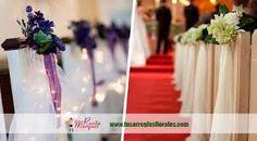 Resultado de imagen para arreglo de flores para boda iglesia