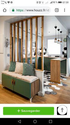 49 creative small apartment kitchen design and organization ideas 20 Küchen Design, Home Design, Home Interior Design, Design Ideas, Interior Livingroom, Small Apartment Kitchen, Home Decor Kitchen, Small Kitchens, Kitchen Modern