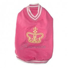 Pink Princess T shirt - Dog and Puppy Clothing - Dogs