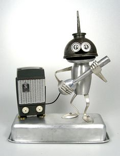 Sid Viscous 529 - Found Object Rocking Robot Assemblage Sculpture By Brian Marshall by adopt-a-bot, via Flickr