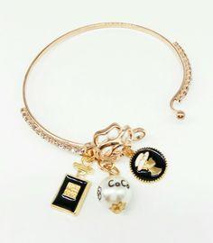 Charm Bracelets – Bracelet open Camellia, locket lady charm – a unique product by birdofparadise97 on DaWanda