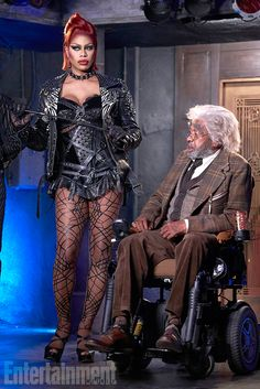 Laverne Cox as Dr. Frank-N-Furter. in the New Rocky Horror Picture Show based on the stage and classic 1975 film.