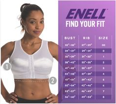 Find your Enell Sports Bra fit - use the calculator on this site to get your size! http://enell.com/fitting/