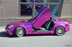 Mercedes SLK in Purple Chrome