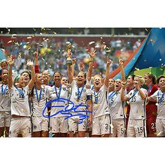 Christie Rampone Autographed Team USA 2015 Women's World Cup Final Champions