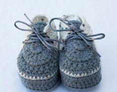 Crochet Baby Sneakers Crochet Newborn Booties Soft Sole Baby