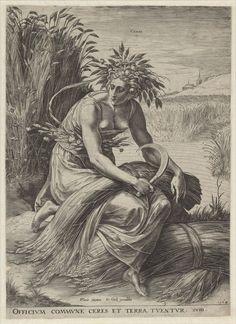 Ceres, Cornelis Cort, 1564 | Museum Boijmans Van Beuningen