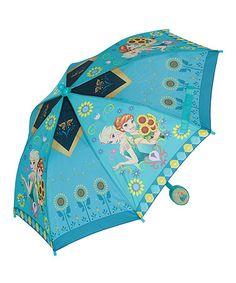 Another great find on #zulily! Frozen Blue Floral Umbrella #zulilyfinds