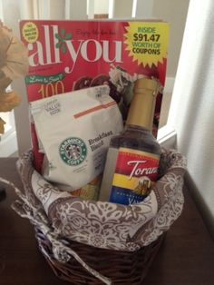 Links to a great blog about sharing Gift Basket ideas - Great resource - hope they start sending pictures!