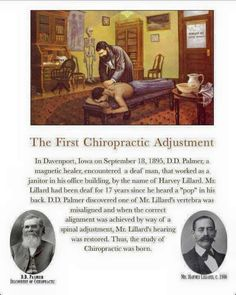 Over 120 years of chiropractic studies have been going on! Check it out! Who knew it's start was so close to Wisconsin? 608-781-9555 give us a call to book your chiropractic or massage appt.! #Chiropractic #Adjustment #Massage