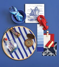 Nautical Route -Totally inspired by the 'sailor' scheme, colours, accessories, et al