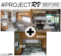 The Curated Cabin | #ProjectRV #rvmakeover renovating an RV