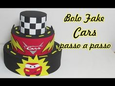 Bolo fake Cars passo a passo - YouTube