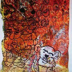 "Artmoney ""Toys "". Acrylic art. Highlights and shadows.  Vibrant colors.  I'm happy"