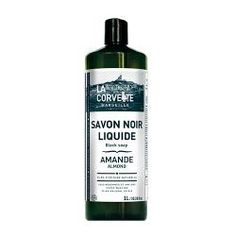 Jabon Negro Liquido Almendras y Aceite de Linaza- 1000mL - Imagen 1