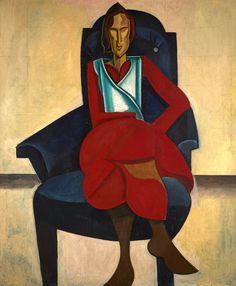 Seated Figure - Percy Wyndham Lewis