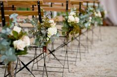 simple chair/aisle decor