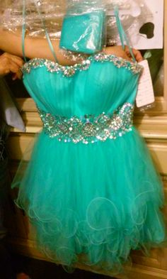 Bought this beautiful dress for a group of girls for my 16 , aqua/tulle downtown is the best place to go , by main and 9 -11 street