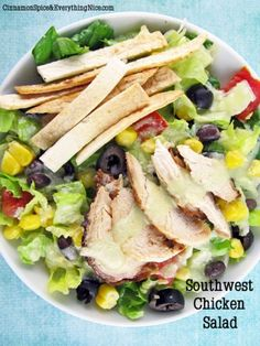 Southwestern Chicken Salad by Cinnamon Spice and Everything Nice