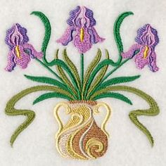 Machine Embroidery Designs at Embroidery Library! - Art Nouveau Flowers