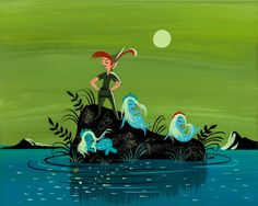 Peter Pan - Peter and the Mermaids - Mary Blair concept art | Flickr - Photo Sharing!