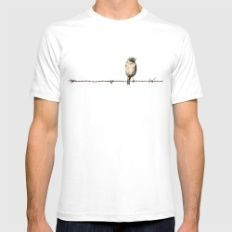 Hanging in the wire Mens Fitted Tee White SMALL
