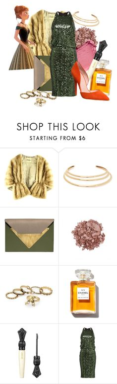 """""""Cocktail party - Anna"""" by alexxhutcherson ❤ liked on Polyvore featuring Disney, Kenneth Jay Lane, Dareen Hakim, Chanel, Anna Sui, Badgley Mischka and Office"""