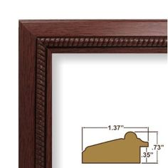 "15x17 Custom Picture Frame / Poster Frame 1.375"" Wide Complete Cherry Wood Frame (8932). This frame is manufactured in the USA, using the best materials and tools available. Our frames larger than 12x18 inches include styrene facing (acrylic upgrade is available), a rigid cardboard backing and hanging hardware. Some assembly is required to attach the hanging hardware to the frame. Hanging hardware includes: (1) 1"" Nail, (1) 30# capacity Wall Hanger, (1) 9'6"" length of Hanging Wire, (2)…"