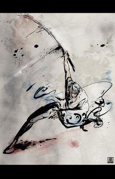 Japanese drawing of Gintoki