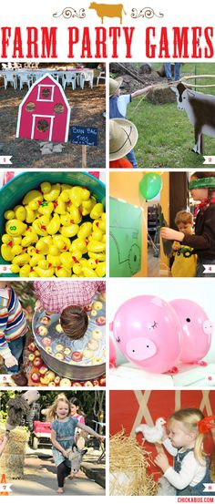 Farm Theme Party Games | No farm party is complete without getting outside and playing some games! Here are some farm theme party games that will be a big hit for all ages.
