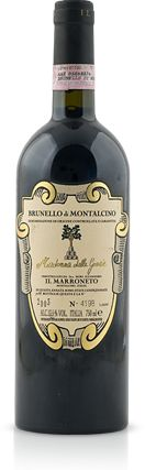 "Brunello di Montalcino DOCG is one of Italy's most famous and sought after wines made from the Sangiovese Grosso grape. Brunello roughly translates to ""nice dark one"""